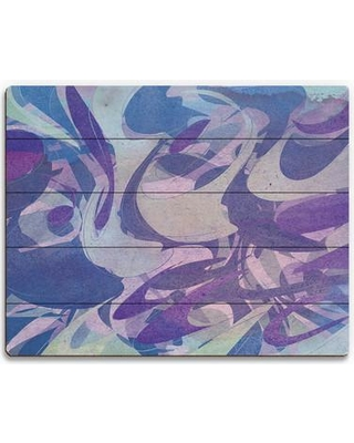 """Click Wall Art 'Violet Canopy' Painting Print on Plaque ABS0007870PLK Size: 16"""" H x 20"""" W x 1"""" D"""