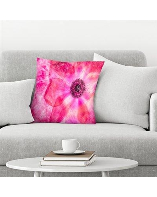 """East Urban Home Projection of Love Throw Pillow EBHW1955 Size: 14"""" H x 14"""" W x 1.5"""" D"""