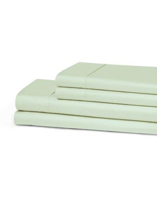 The Twillery Co. Patric 300 Thread Count 100% Egyptian-Quality Cotton Sheet Set CHMB1467 Color: Mint Size: King