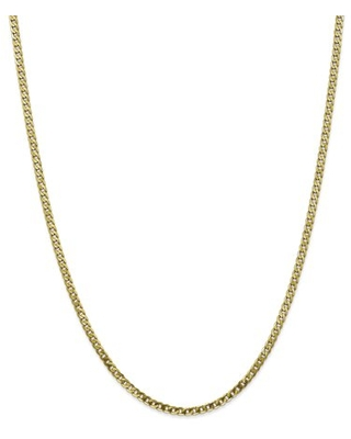 Primal Gold 10 Karat Yellow Gold 2.9mm Flat Beveled Curb Chain