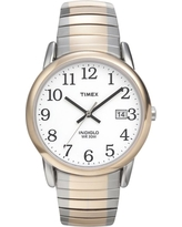 Men's Timex Easy Reader Expansion Band Watch - Two Tone T2H311JT, Metal Band