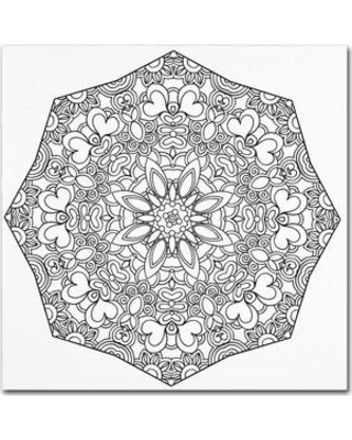 """Trademark Art 'Sublime Mandala' Graphic Art on Wrapped Canvas ALI3413-C Size: 18"""" H x 18"""" W x 2"""" D"""