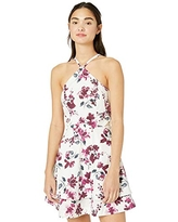 Speechless Women's Y Neck Sleeveless Fit and Flare Party Dress, Ivory Berry Floral, 1