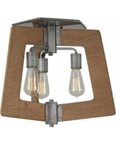 "Varaluz Lofty 18 1/2"" Wide Wheat and Steel Ceiling Light"