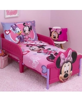 Disney Minnie Mouse Hearts and Bows 4 Piece Toddler Bedding Set 6089416