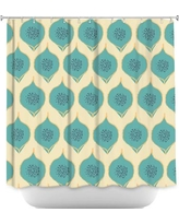 DiaNocheDesigns Petals Shower Curtain SHO-ZaraMartinaTealPetals