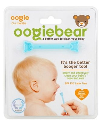 oogiebear® Infant Nose & Ear Cleaner by oogie solutions Booger, Snot & Earwax Removal Tool
