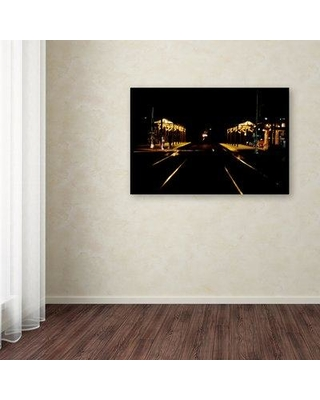 """Trademark Fine Art 'Night Melrose' Photographic Print on Wrapped Canvas ALI12405-C Size: 12"""" H x 19"""" W x 2"""" D"""