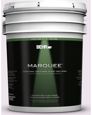 BEHR MARQUEE 5 gal. #670C-1 November Pink Semi-Gloss Enamel Exterior Paint and Primer in One