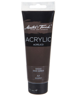 Raw Umber Master's Touch Acrylic Paint - 4.1 Ounce