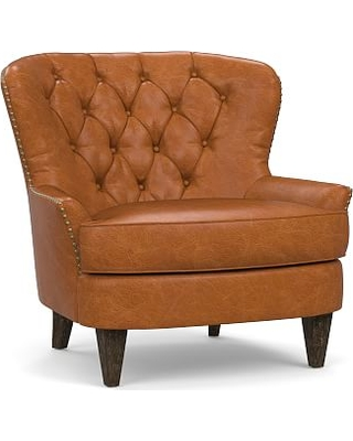 Surprising Heres A Great Deal On Cardiff Leather Tufted Armchair Dailytribune Chair Design For Home Dailytribuneorg