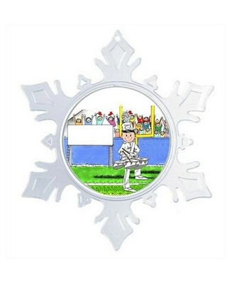 Personalized Friendly Folks Cartoon Snowflake Marching Band Three Drum Christmas Holiday Shaped Ornament The Holiday Aisle®