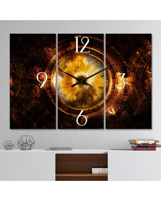 Oversized Ancient Mayan Calendar Collages Wall Clock