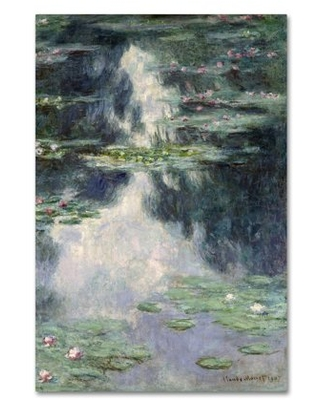 Trademark Fine Art 'Pond With Water Lilies' Canvas Art by Monet