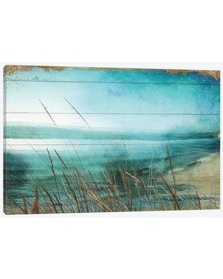 """East Urban Home 'Lake Of Stars I' Graphic Art Print on Wrapped Canvas EBHS1205 Size: 18"""" H x 26"""" W x 0.75"""" D"""