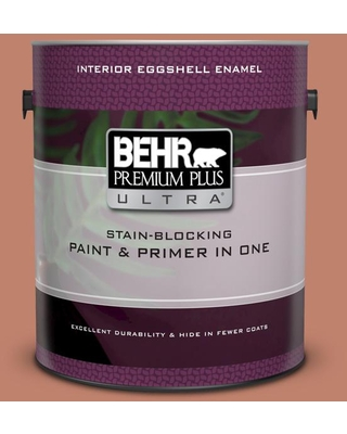 BEHR ULTRA 1 gal. #QE-03 Clay Ground Extra Durable Eggshell Enamel Interior Paint & Primer