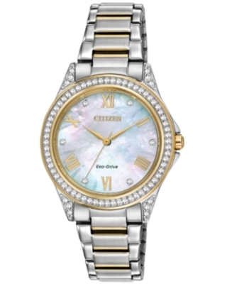 Drive From Citizen Eco-Drive Women's Two-Tone Stainless Steel Bracelet Watch 34mm