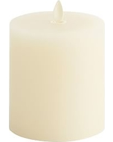 Premium Flicker Flameless Wax Candle, Ivory - 3X3