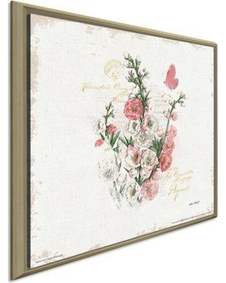 """Ophelia & Co. 'French Romance III' Watercolor Painting Print OPCO5734 Size: 31.5"""" H x 31.5"""" W x 2"""" D Format: Framed Canvas"""