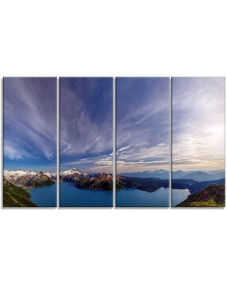 Design Art 'Stunning View of Clear Lake' 4 Piece Photographic Print on Wrapped Canvas Set PT14426-271