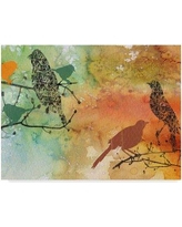 "Winston Porter 'Birds on Watercolor' Acrylic Painting Print on Wrapped Canvas WNST5753 Size: 18"" H x 24"" W x 2"" D"