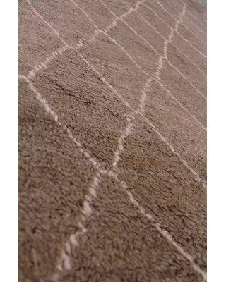 Exquisite Rugs Moroccan Hand Knotted Wool Gray Area Rug 2250- Rug Size: Rectangle 6' x 9'
