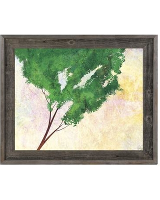 """Click Wall Art 'Emerald Ash' Framed Print of Painting TRE0000006FRA Size: 23.5"""" H x 27.5"""" W"""