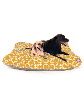 Majestic Pet Products Yellow Polyester Rectangular Dog Bed (For Extra Large)   788995504283