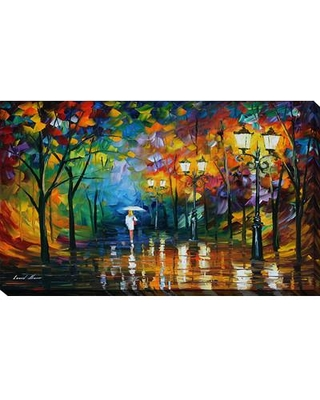 """PicturePerfectInternational """"Late Stroll"""" by Leonid Afremov Painting Print on Wrapped Canvas 704-0335 Size: 36"""" H x 60"""" W x 1.5"""" D"""