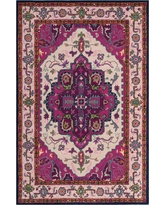 Bellagio Ivory/Pink 4 ft. x 6 ft. Area Rug