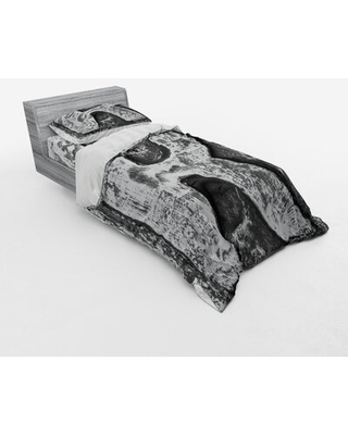 Letter R Duvet Cover Set East Urban Home Size: Twin XL Duvet Cover + 2 Additional Pieces