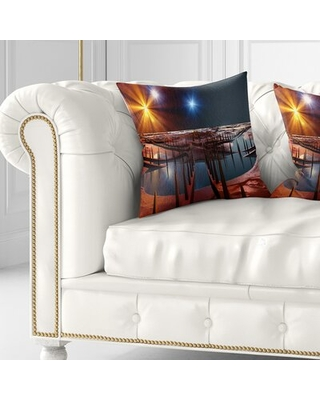 Amazing Deal On Landscape Printed Planet Of Souls Alien Land Pillow East Urban Home Size 18 X 18 Product Type Throw Pillow