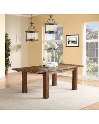 Meadow Solid Wood Extending Dining Table in Brick Brown - Modus 3F4161