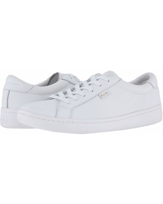 Keds Ace Leather (White/White) Women's Lace up casual Shoes