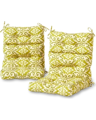 Greendale Home Fashions Shoreham Ikat Outdoor High Back Dining Chair Cushion (2-Pack)