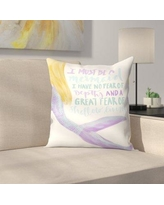"East Urban Home Jetty Printables I Must be a Mermaid Typography Throw Pillow EUHG3406 Size: 20"" x 20"""