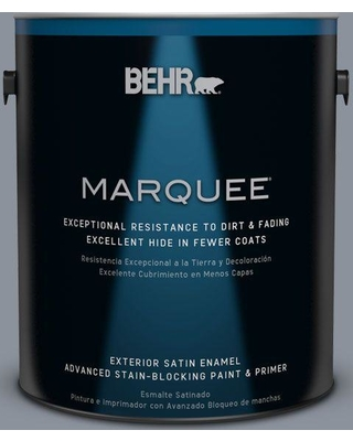 BEHR MARQUEE 1 gal. #ppf-28 Blue Dusk Satin Enamel Exterior Paint and Primer in One