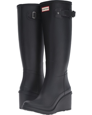 976999dcc241e Can t Miss Deals on Hunter - Original Refined Mid Wedge Tall (Black ...