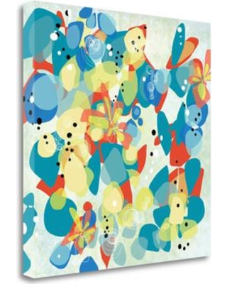 """Tangletown Fine Art 'Falling on Water 2' Print on Canvas ICW628D- Size: 25"""" H x 25"""" W"""