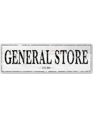"Trademark Art 'General Store' Textual Art on Wrapped Canvas ALI15529-C Size: 6"" H x 19"" W"