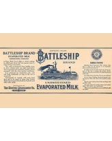 "Buyenlarge 'Battleship Brand Unsweetened Evaporated Milk' Vintage Advertisement 0-587-33611-0 Size: 24"" H x 36"" W x 1.5"" D"