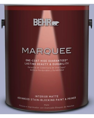 BEHR MARQUEE 1 gal. #S540-3 Meadow Phlox One-Coat Hide Matte Interior Paint and Primer in One