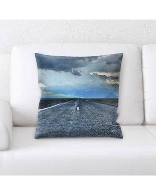 Latitude Run Keyes A Road to Many Places Throw Pillow BF135610
