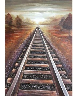 Millwood Pines 'Railway I' Oil Painting Print on Wrapped Canvas BF027839