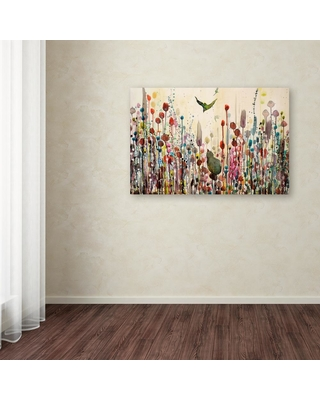 """30 in. x 47 in. """"Learning To Fly"""" by Sylvie Demers Printed Canvas Wall Art, Multi"""