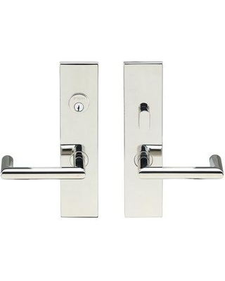 INOX® Complete Stuttgart Entry Lever Set with Double Cylinder Deadbolt SF109 Finish: Polished Stainless Steel Handle Orientation: Left