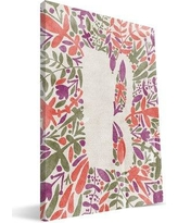 Paulson Designs Monogram 'Floral A' Graphic Art Print on Wrapped Canvas M0812 Letter: B