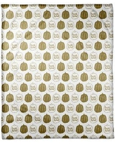 "The Holiday Aisle Pumpkins Fleece Throw THDA5390 Size: 30"" W x 40"" L"