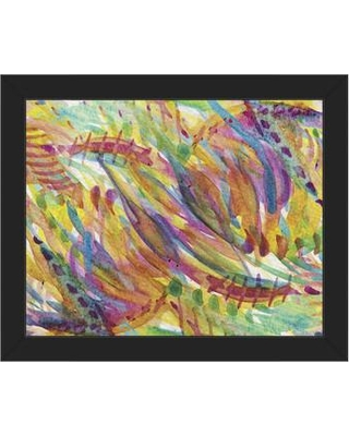 """Click Wall Art 'Riflesso' Framed Painting Print ABS0012833FR Size: 11"""" H x 14"""" W x 1"""" D Frame Color: Black"""