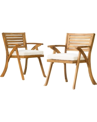 Surprising New Bargains On Hermosa 2Pk Acacia Wood Arm Chair Teak Caraccident5 Cool Chair Designs And Ideas Caraccident5Info